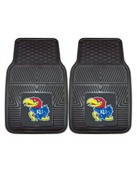 Kansas Heavy Duty 2-Piece Vinyl Car Mats 18x27 by