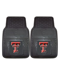 Texas Tech Heavy Duty 2Piece Vinyl Car Mats 18x27 by