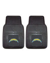 NFL San Diego Chargers Heavy Duty 2Piece Vinyl Car Mats 18x27 by
