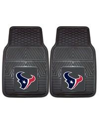 NFL Houston Texans Heavy Duty 2Piece Vinyl Car Mats 18x27 by