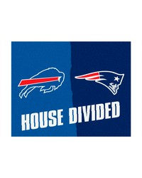 NFL New England Patriots Buffalo Bills House Divided Rugs 34x45 by