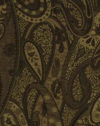 Brown Classic Paisley Fabric  Country Life Praline
