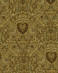 Yellow Classic Paisley Fabric  Hypothetical Sunrise