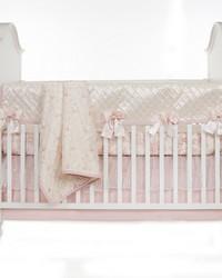 Convertible Crib Rail Protector  Long Individual Pintuck Cottage Rose by