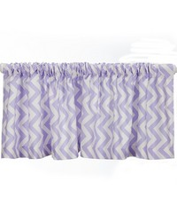 Swizzle Purple Valance Purple Chevron Approximately 70x18 in  by