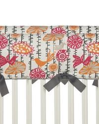 Calliope Convertible Crib Rail Protector  Short Set of 2 Bird Print by