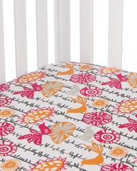 Calliope Fitted Sheet Bird Print by