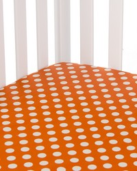 Calliope Fitted Sheet Orange Dot by