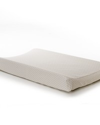 Luna Changing Pad Cover Tan  White by