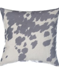 Luna Pillow  Grey  White Cow by