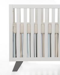 Luna 2Pc Starter Set Includes tan  white sheet  crib skirt by