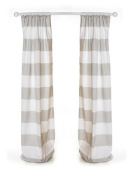Luna Drapery Panels Wide Grey & White Stripe by