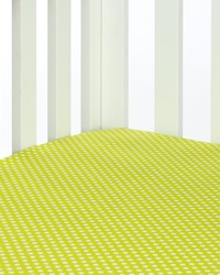 Blossom Fitted Sheet Green Dot by