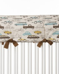 Traffic Jam Convertible Crib Rail Protector  Short Set of 2 Cars by
