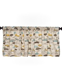 Traffic Jam Valance Cars Approximately 70x18 in  by