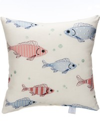 Fish Tales Pillow - Fish Embroidery by