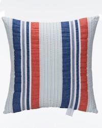 Fish Tales Pillow - Seersucker Stripe by