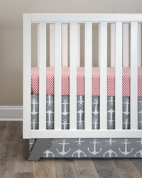 Fish Tales 2Pc Starter Set Includes red print sheet  crib skirt by