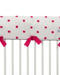Lilly and Flo Convertible Crib Rail Protector  Long Individual Pink Puff by