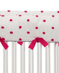Lilly and Flo Convertible Crib Rail Protector  Short Set of 2 Pink Puff by