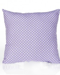 Lilly and Flo Pillow  Purple Dot by