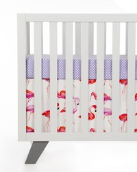 Lilly and Flo 2Pc Starter Set Includes purple dot sheet  crib skirt by