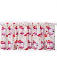 Lilly and Flo Valance Flamingo Approximately 70x18 in  by