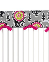 Pippin Convertible Crib Rail Protector  Long Individual Print by