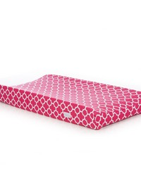 Pippin Changing Pad Cover Pink Quatrefoil by