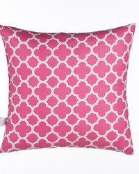 Pippin Pillow  Pink Quatrefoil by