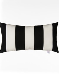 Pippin Pillow  Rectangle Black  White Stripe by