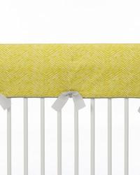 Lil Hoot Convertible Crib Rail Protector  Long Individual Green Print by
