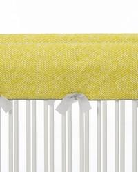 Lil Hoot Convertible Crib Rail Protector  Short Set of 2 Green Print by