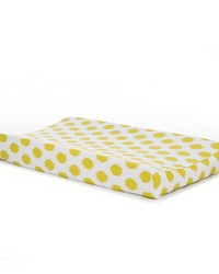 Lil Hoot Changing Pad Cover Green Dot by