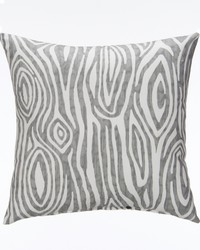 Lil Hoot Pillow  Grey Wood Print by