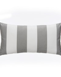 Lil Hoot Pillow  Rectangle Grey  White Stripe by