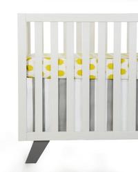 Lil Hoot 2Pc Starter Set Includes green dot sheet  crib skirt by