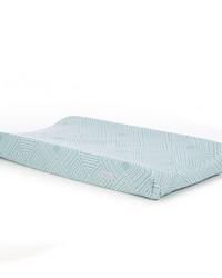 Soho Changing Pad Cover Aqua Print by
