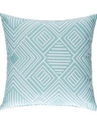 Soho Pillow  Aqua Print by