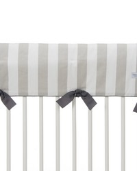 Twiggy Convertible Crib Rail Protector  Long Individual Grey  White Stripe by