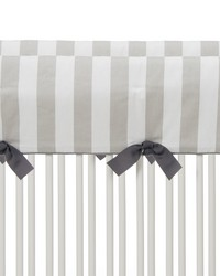 Twiggy Convertible Crib Rail Protector  Short Set of 2 Grey  White Stripe by
