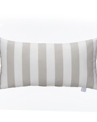 Twiggy Pillow  Rectangle Grey  White Stripe by