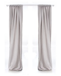 Twiggy Drapery Panels Grey Sparkly Velvet by