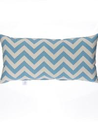 Pillow  Rectangluar Blue Grey Chevron by