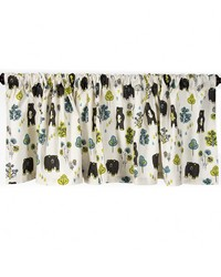 Window Valance Bear Print Approximately 70x23 in  by