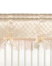 Convertible Crib Rail Protector Short Cream Remember My Love by