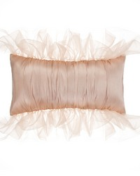 Pillow Rectangle  Reversible Pink Cream Pintuck by