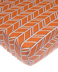 Fitted Sheet Orange Print by