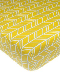 Fitted Sheet Yellow Print Happy Camper by