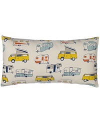 Happy Camper Pillow Rectangular by
